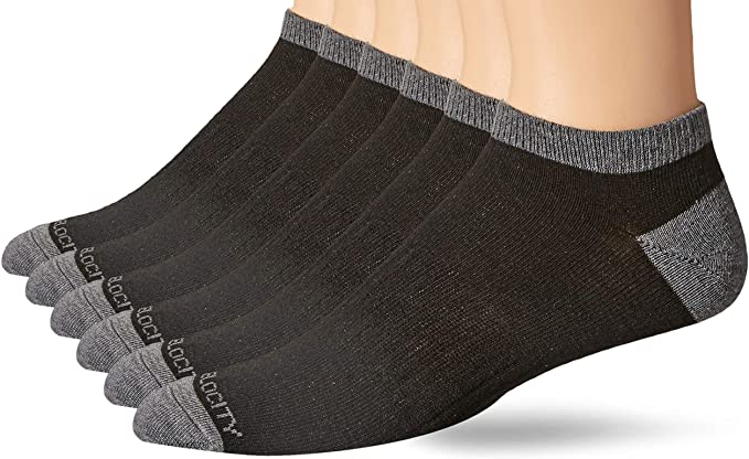 Peak Velocity Men's 6-Pack Low-Cut Socks