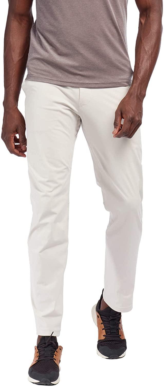 Rhone Stretch Straight-Leg Flat-Front Pants