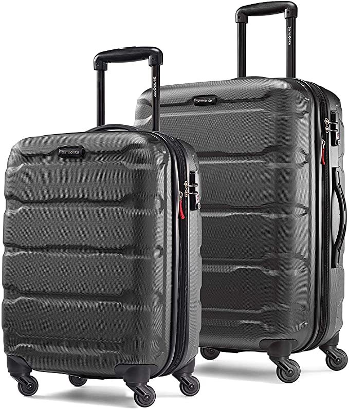 Samsonite Omni PC Hardside Expandable Luggage with Spinner Wheels, Black, 2-Piece Set (20/24)