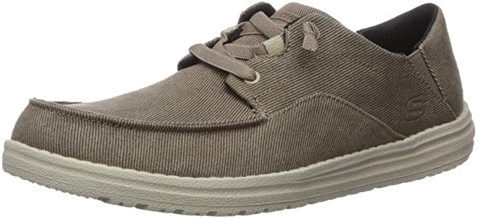 Skechers Men's Melson-volgo Canvas Slip on Moccasin