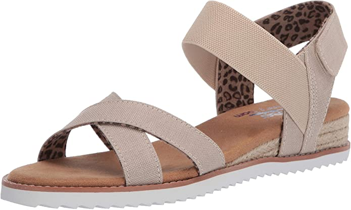 Skechers Women's Desert Kiss-Secret Picnic Flat Sandal