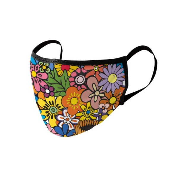 Threadless Rocks Off Flower Power Face Mask