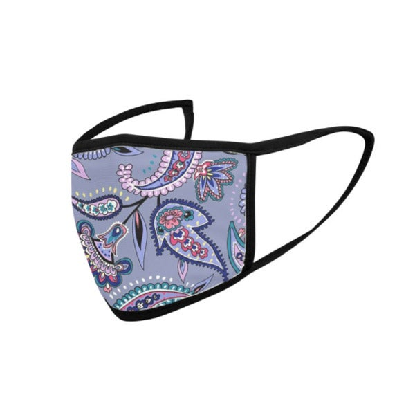 Threadless Purple Paisely Youth Face Mask