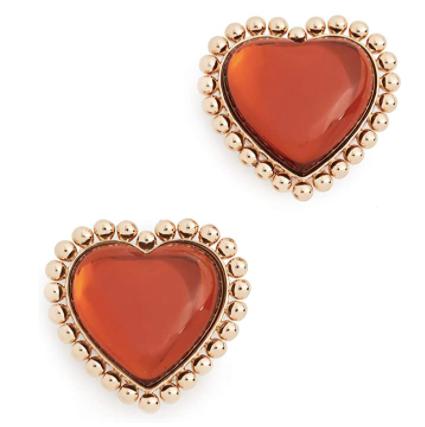 Tory Burch Heart Stud Earrings