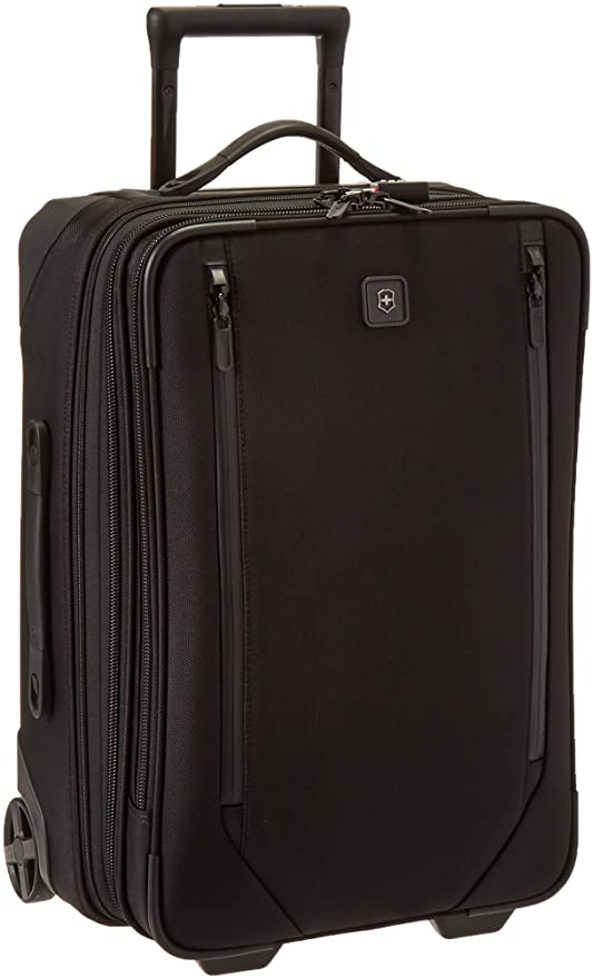 "Roll over image to zoom in Victorinox Lexicon 2.0 Softside Expandable Upright Luggage, Black, Carry-On-Global (22"")"