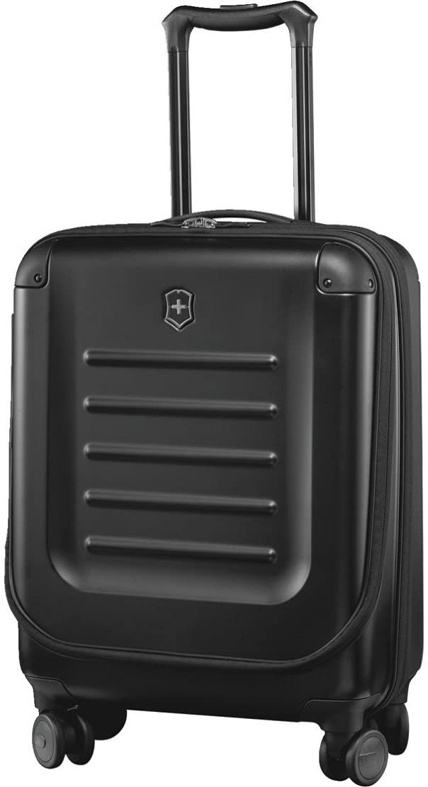 "Victorinox Spectra 2.0 Hardside Spinner Suitcase, Black, Expandable Carry-On, Global (21.7"")"