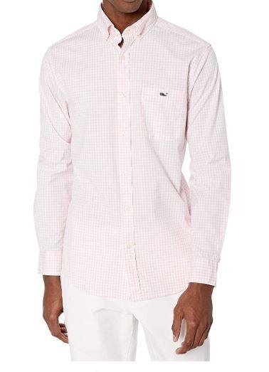 Vineyard Vines Men's Classic Fit Long-Sleeve Aberdeen Tucker Shirt