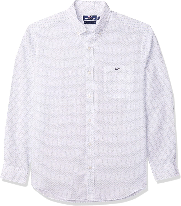 Vineyard Vines Men's Classic Fit Long-Sleeve Floridian Tucker Shirt