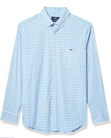 Vineyard Vines Men's Evernia Classic Fit On-The-go Performance Tucker Button-Down Shirt
