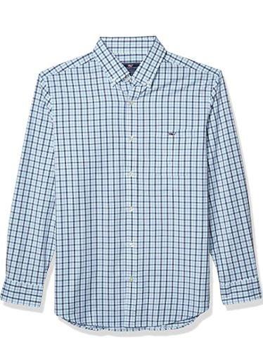 Vineyard Vines Men's Permit Classic Fit Cotton Performance Tucker Button-Down Shirt