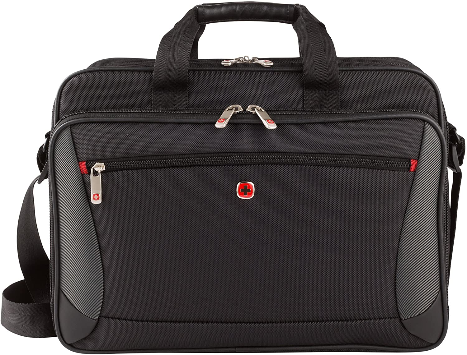 "Wenger Luggage Mainframe 15.6"" Laptop Brief Bag, Black, One Size"