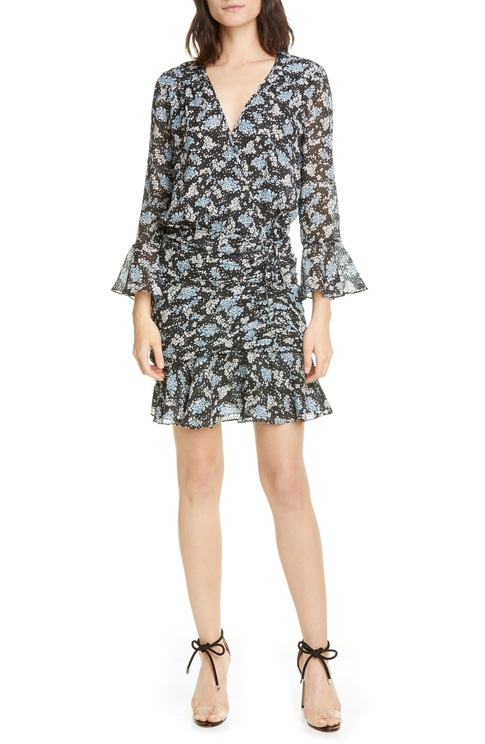 Sean Floral Print Silk Minidress