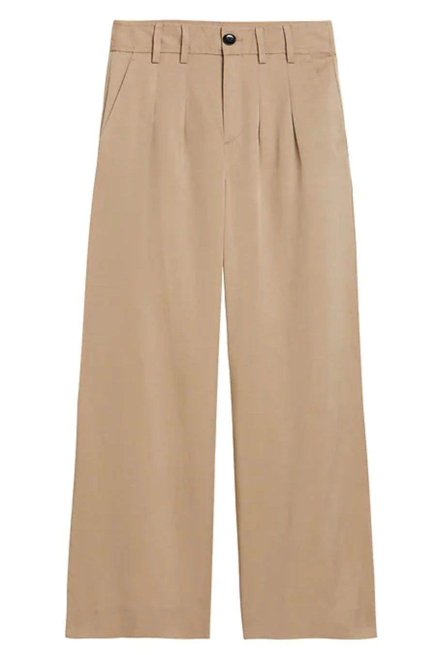 High-Rise Wide-Leg Pleated Ankle Pant