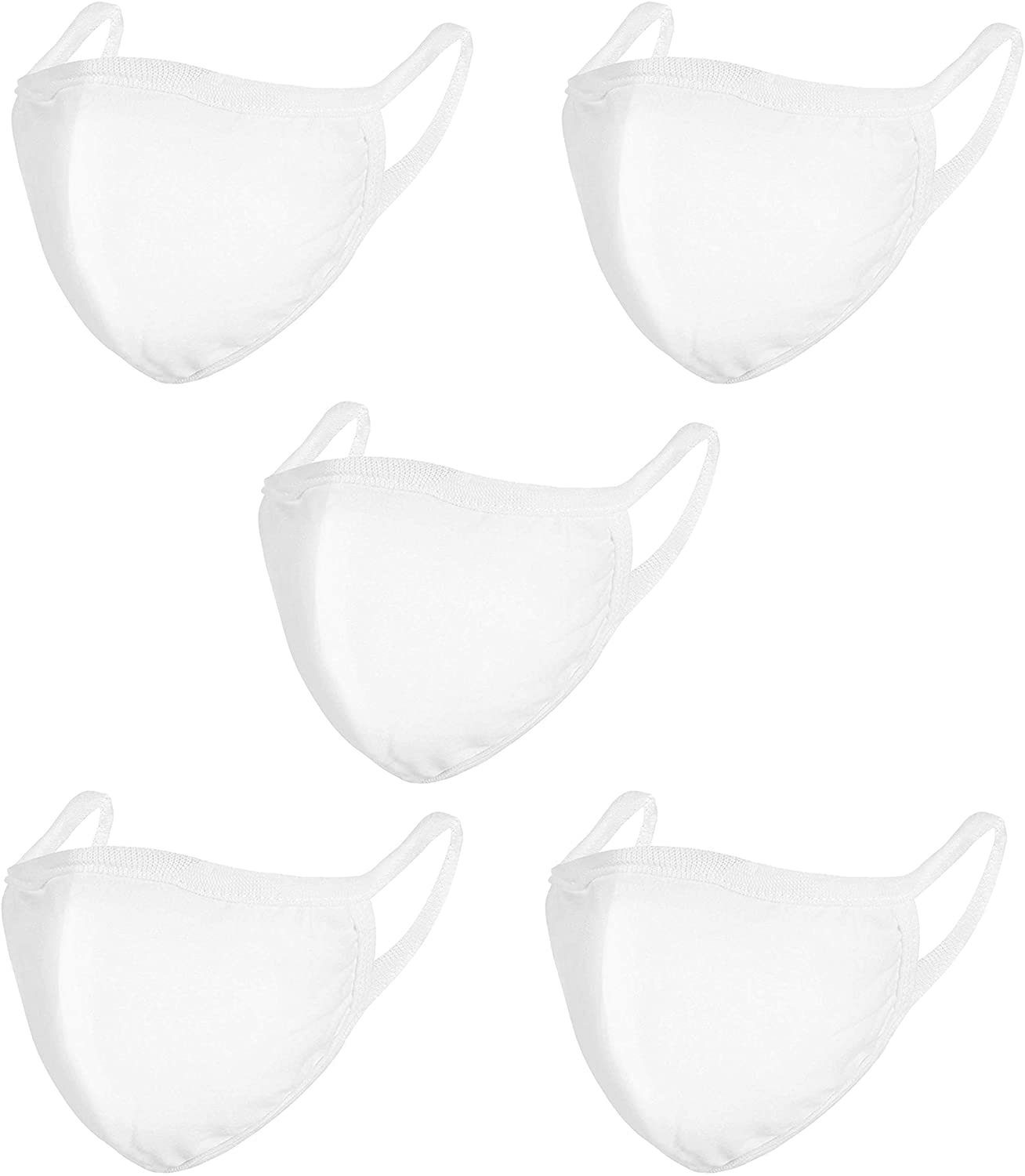 Cotton Face Breathing Mask (Pack of 5)