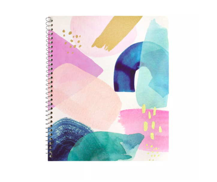 Greenroom Spiral Notebook 1 Subject College Ruled Brushstroke Medium