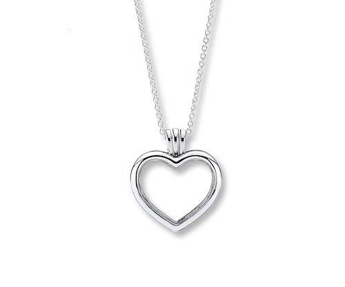 "Jared PANDORA 23.6"" Locket Floating Heart Sterling Silver"