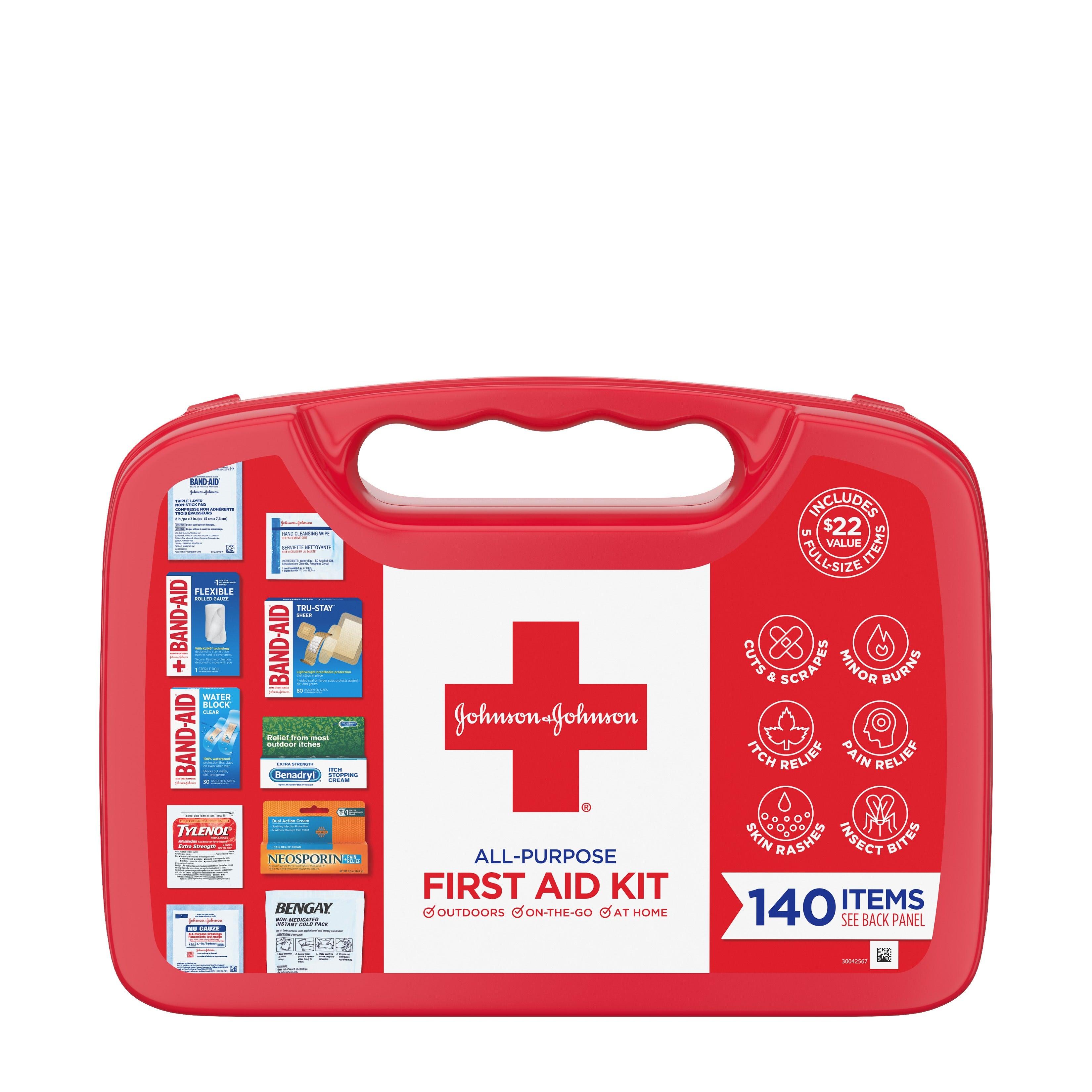 Johnson & Johnson All-Purpose Portable Compact First Aid Kit