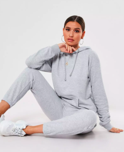 Missguided Gray Hoodie and Joggers Co Ord Set