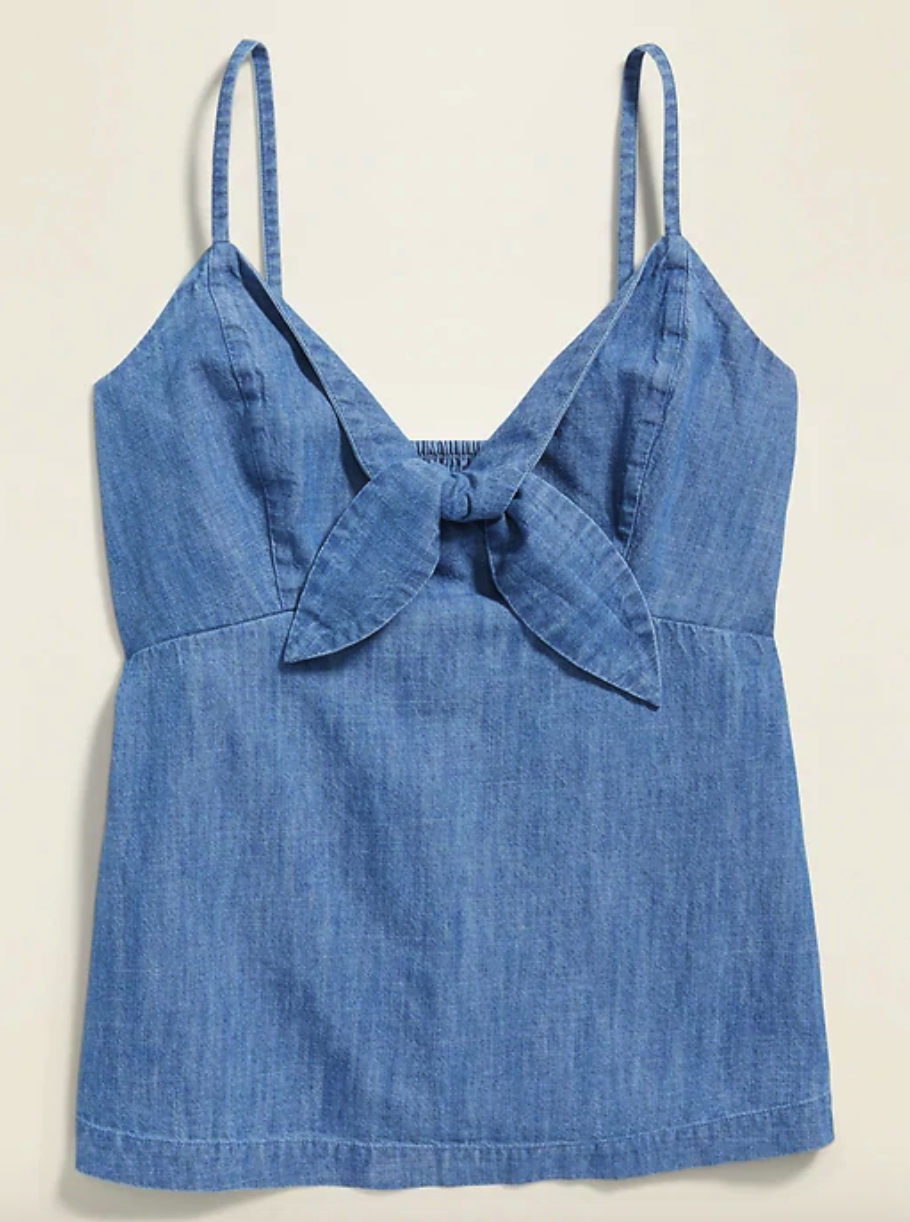 Old Navy Chambray Tie-Front Cami for Women