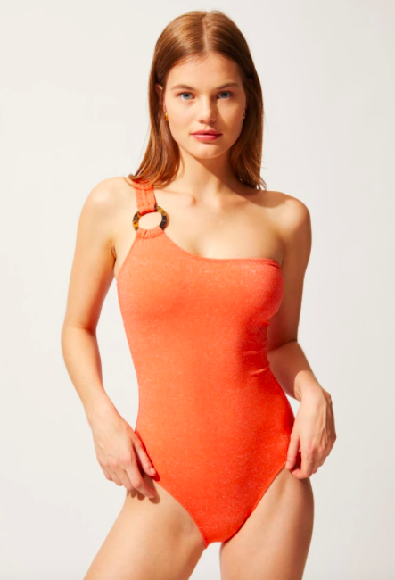 Solid & Striped The Juliana Apricot Lurex