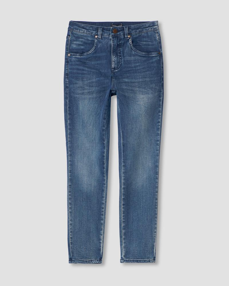 Universal Standard Seine High Rise Skinny Jeans 27 Inch - Distressed Blue