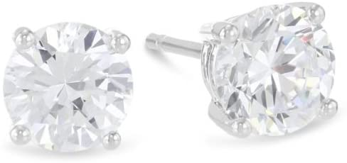 1 Carat Solitaire Diamond Stud Earrings