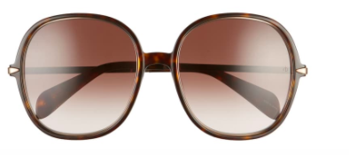 Rag & Bone 59mm Gradient Round Sunglasses