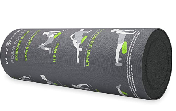 Gaiam Gaiam Restore Foam Roller with Self-Guided Exercise Illustrations Printed on Massage Roller