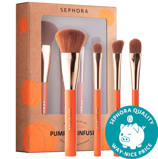 Sephora Collection Mini Pumpkin Infused Brush Set