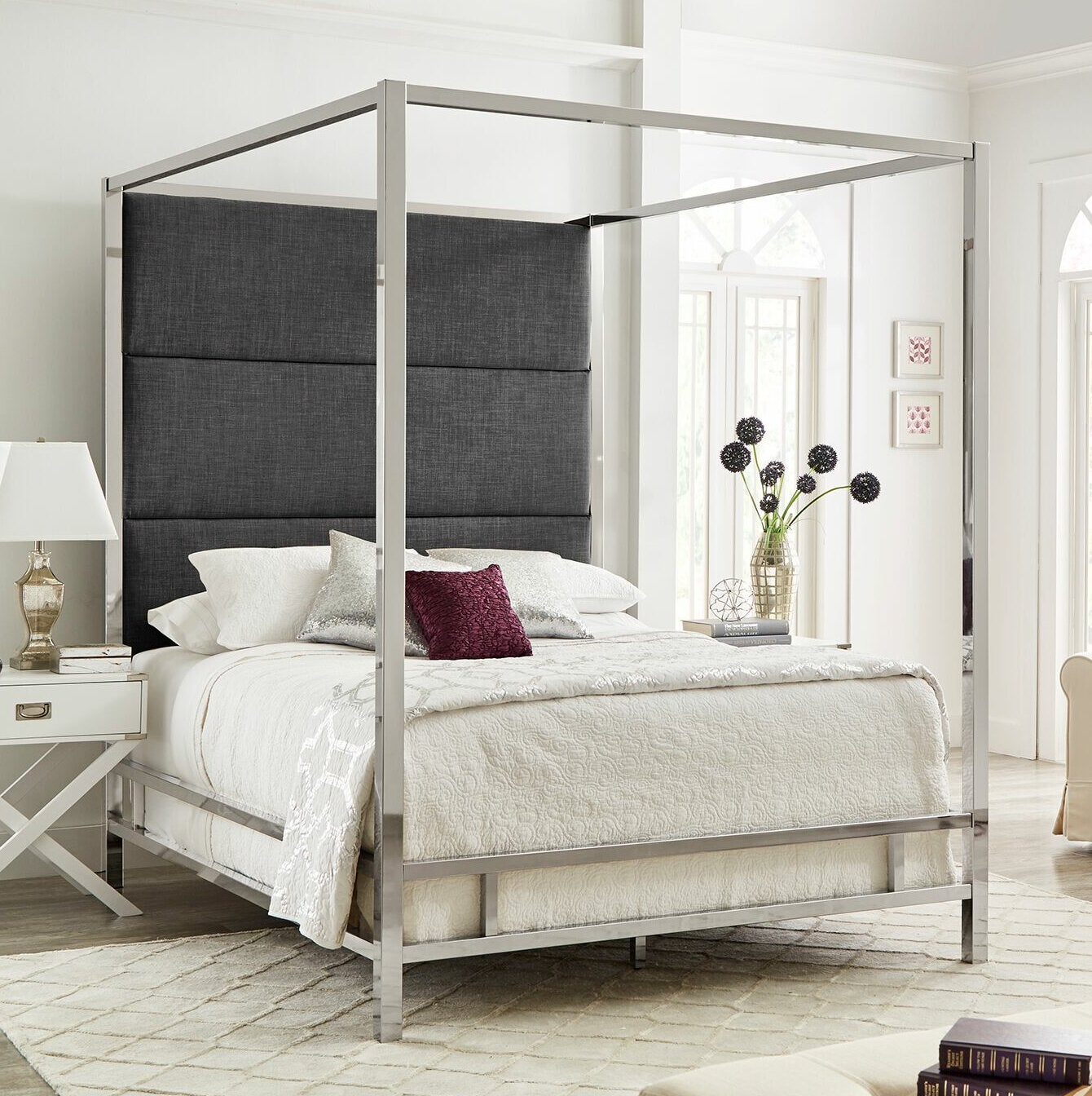 Everson Upholstered Canopy Bed