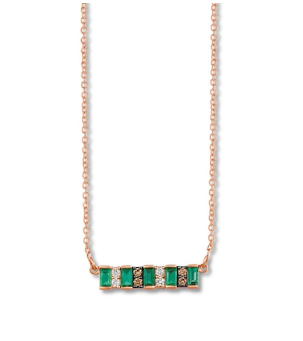 Jared Le Vian Natural Emerald Necklace