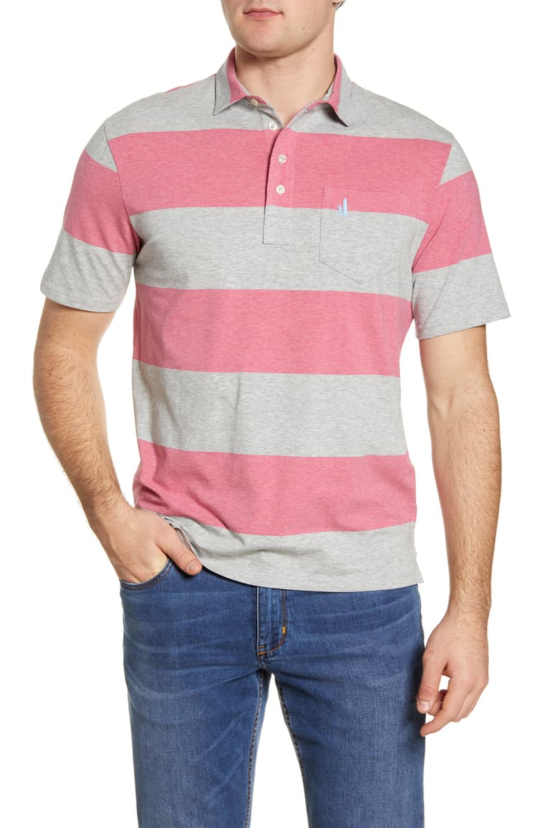 Johnnie-O Parker Stripe Pocket Polo