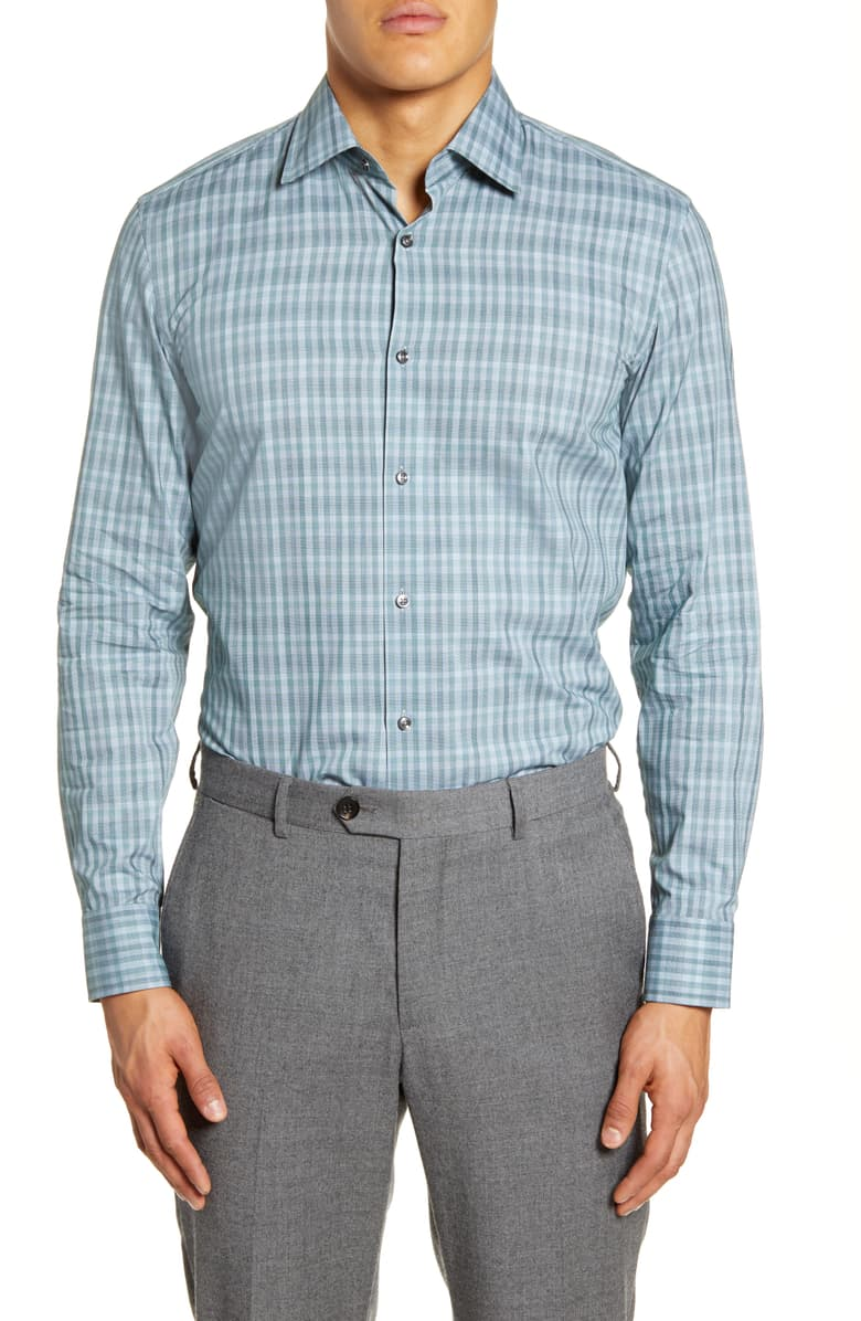 BOSS Plaid Dress Shirt