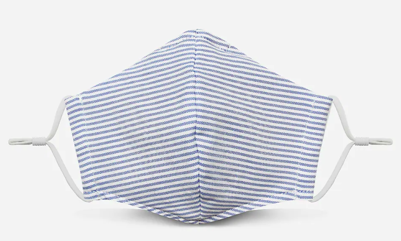 Pocket Square Clothing Blue Stripe Unity Face Covering