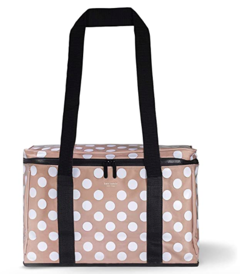 Kate Spade New York Large Capacity Insulated Cooler Bag, Soft Sided Portable Beach Cooler Tote