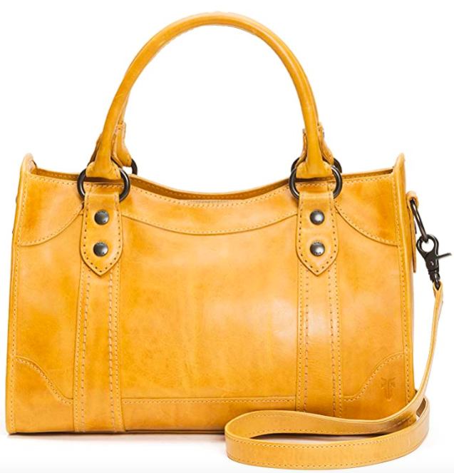 Frye Melissa Zip Satchel Leather Handbag