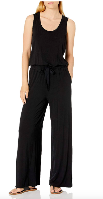 Amazon Essentials Sleeveless Scoop-Neck Wide-Leg Jumpsuit