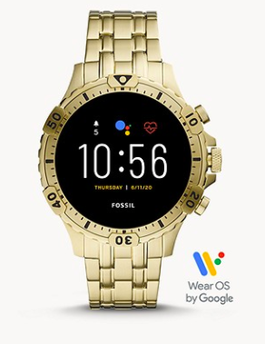 Fossil Gen 5 Smartwatch Garrett HR Gold-Tone Stainless Steel
