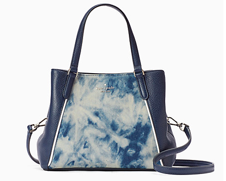 Kate Spade Jackson Tye-Dye Denim Med Triple Compartment Satchel