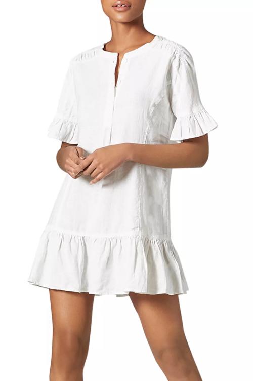 Brandt Linen Ruffled Dress