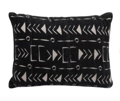 Maree 4 Piece African Mudcloth Rectangular Cotton Pillow Cover & Insert Set