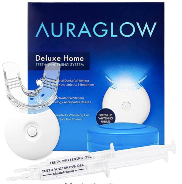 AuraGlow Teeth Whitening Kit with LED Light