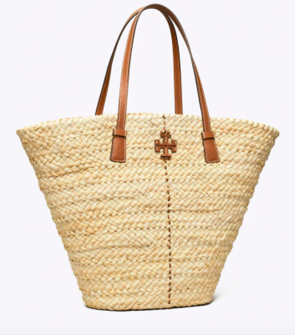 Tory Burch McGraw Straw Shopper Tote