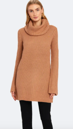 BB Dakota Couldn't Be Sweater Cowl Neck Sweater Dress