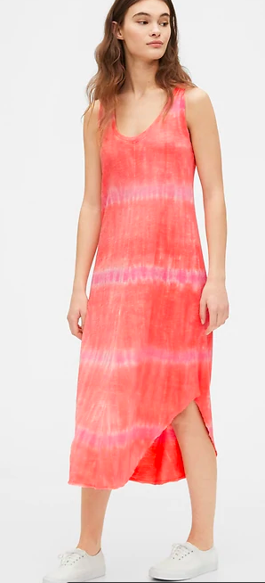 Gap Scoopneck Tie-Dye Midi Dress