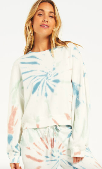 South Moon Under Light Multicolor Tie Dye Pullover