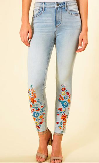 Driftwood Jackie Hi Rise Embroidered Skinny Jean