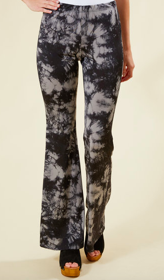 Juniper Blu Grey Tie Dye Fit & Flare Pant