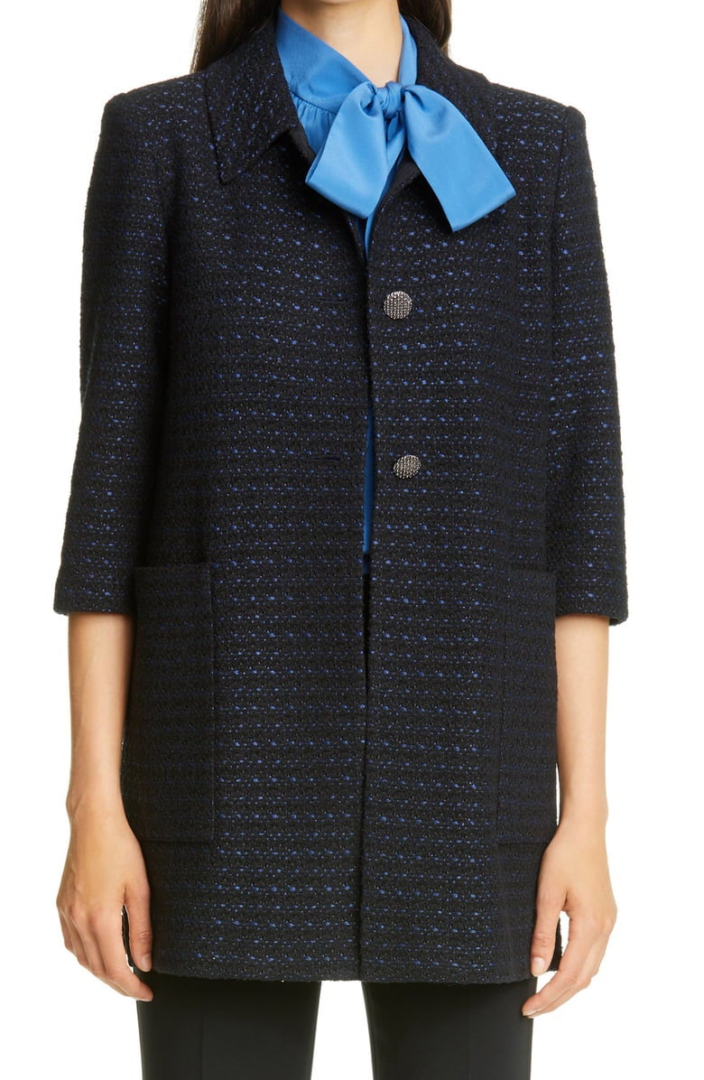 St. John Collection Inlay Boucle Tweed Knit Jacket
