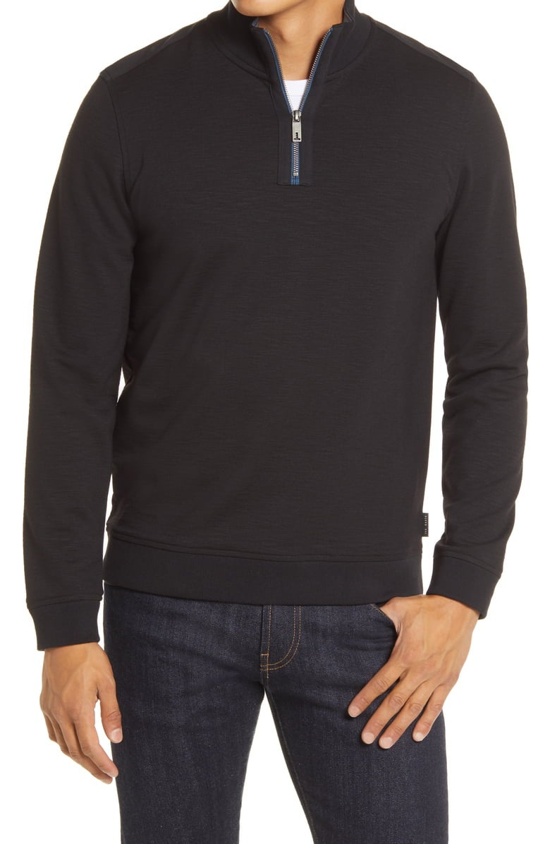 Ted Baker Caravan Slim Fit Quarter Zip Top